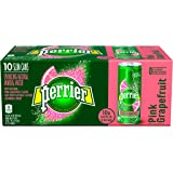 Perrier Sparkling Natural Mineral Water, Pink Grapefruit, 8.45-ounce Slim Cans (Pack of 10)