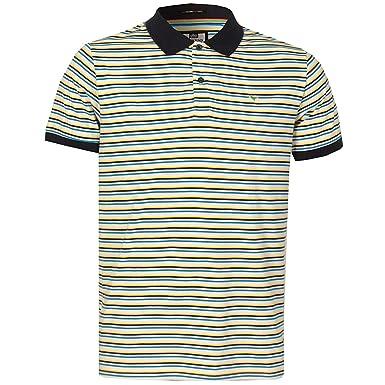 Weekend Offender Camisa Polo a Rayas para Hombre (Blanca): Amazon ...