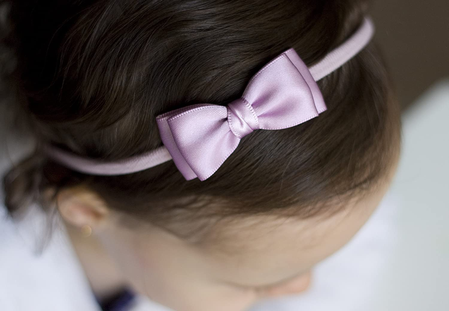 Olivia Satin Bow Handmade Headband Girls Headband Olivia Baby Bow Headband Baby to Adult Headband Navy