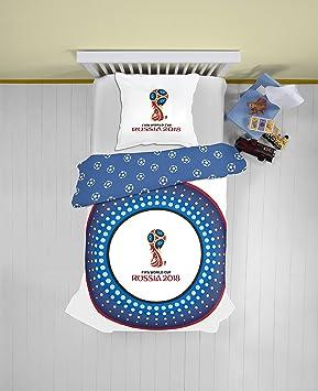 FIFA Oficial Russia WM 2018 Fútbol World Cup Ropa de Cama 135 x 200 cm 80