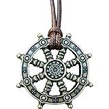 Dharma Wheel of Life Samsara Buddhist Amulet Pendant Talisman
