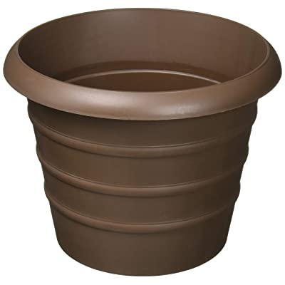 "Akro-Mils MSA08000E21 8"" Chocolate Marina Pot : Garden & Outdoor"