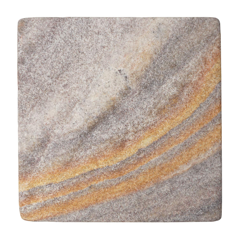 Stella 密封天然石ドリンクコースター 4 x 4インチ (6枚セット)  Purple Desert Sandstone B07NZJ4XBK