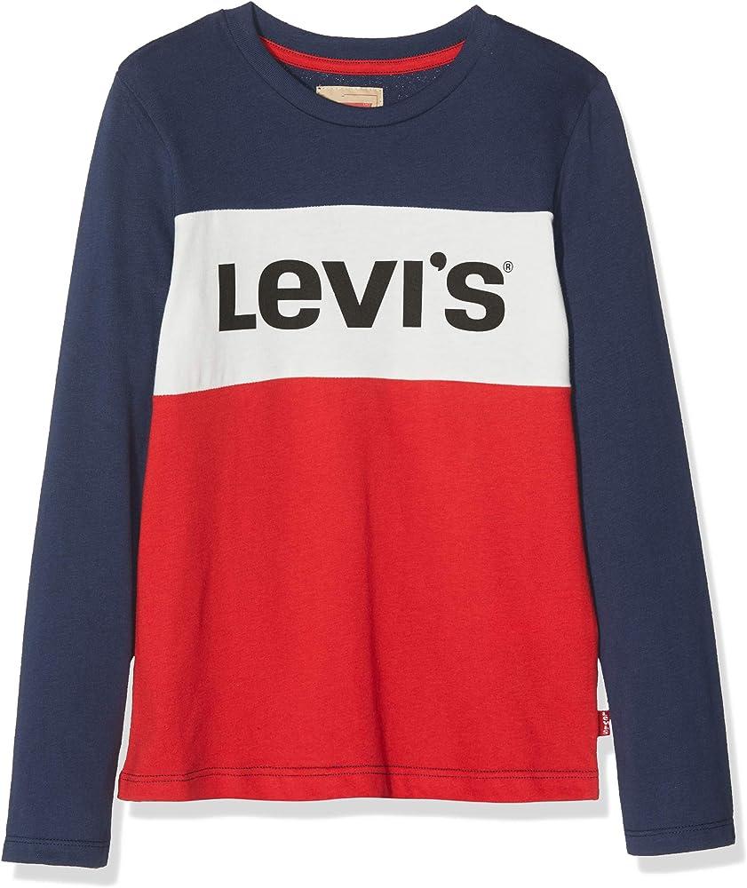 Levis kids NM10387 Camiseta, Azul (Dark Blue 48), 12 años (Talla del Fabricante: 12A) para Niños: Amazon.es: Ropa y accesorios