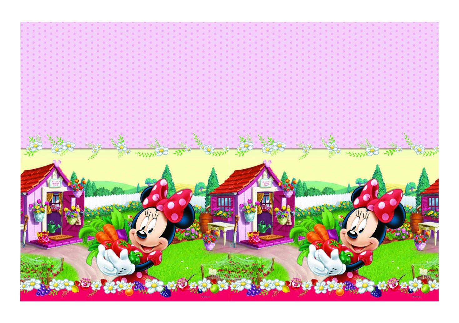 Plástico Jam Packed Mantel de Minnie Mouse de Disney, 1.8m x 1,2m Unique Party 72278