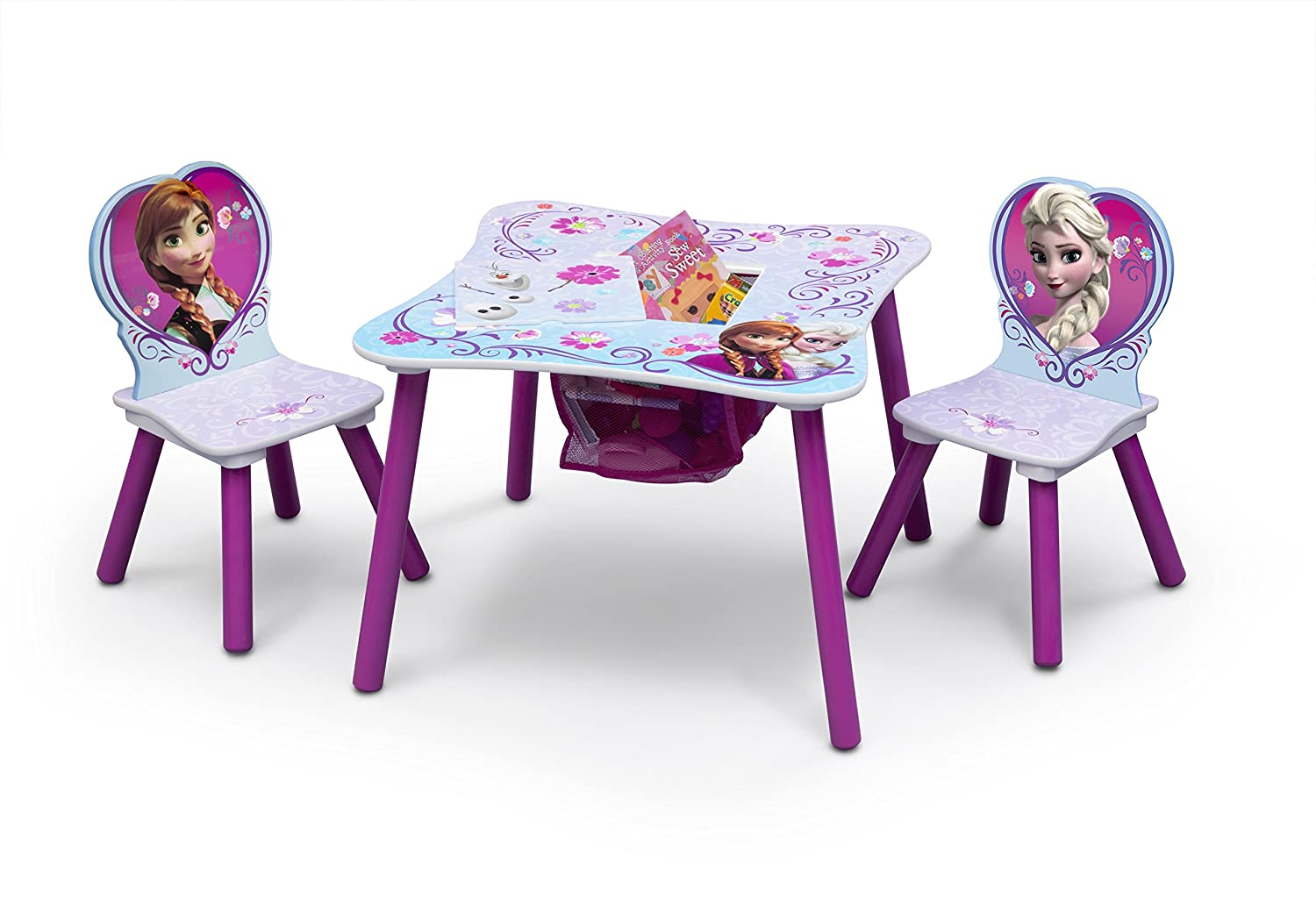 Amazon.com: Delta Children Table And Chair Set With Storage, Disney ...