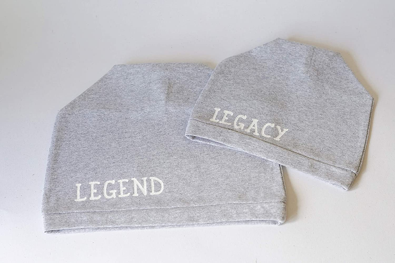 1adadc1b411 Fathers Day Gifts from Son Father Son Matching Beanie Hats Daddy and Me  Outfit Legend and Legacy Gifts Set of 2 Beanies  Amazon.co.uk  Handmade