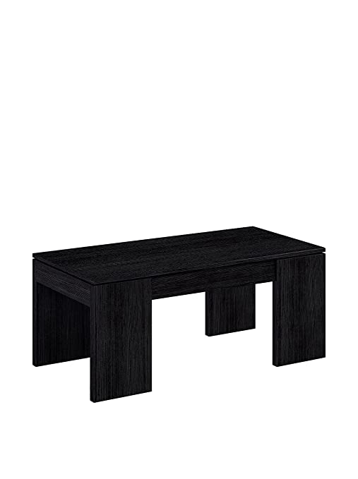 Habitdesign (001637MT - Mesa de elevable, Color Negro Malla, Dimensiones 100x50x43 cm de