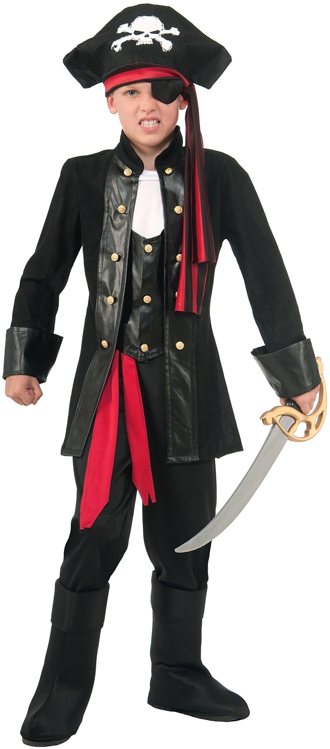 Forum Novelties Seven Seas Boys Pirate Costume (Medium 8-10)