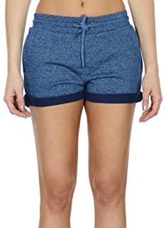 icyzone Décontracté Short de Sport Femme - Yoga Fitness Running Gym French  Terry Pantalons Court d7541eef1067