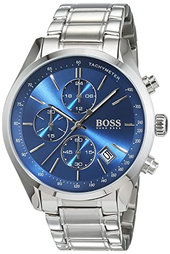 261389e297969 HUGO BOSS Men s Chronograph Quartz Watch with Stainless Steel Bracelet -  1513478  Amazon.co.uk  Watches