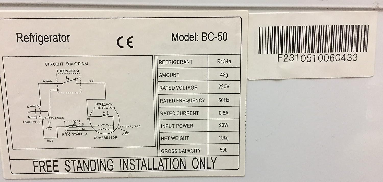 La Shunde BC-50 R/éfrig/érateur compact CUBE 50A+