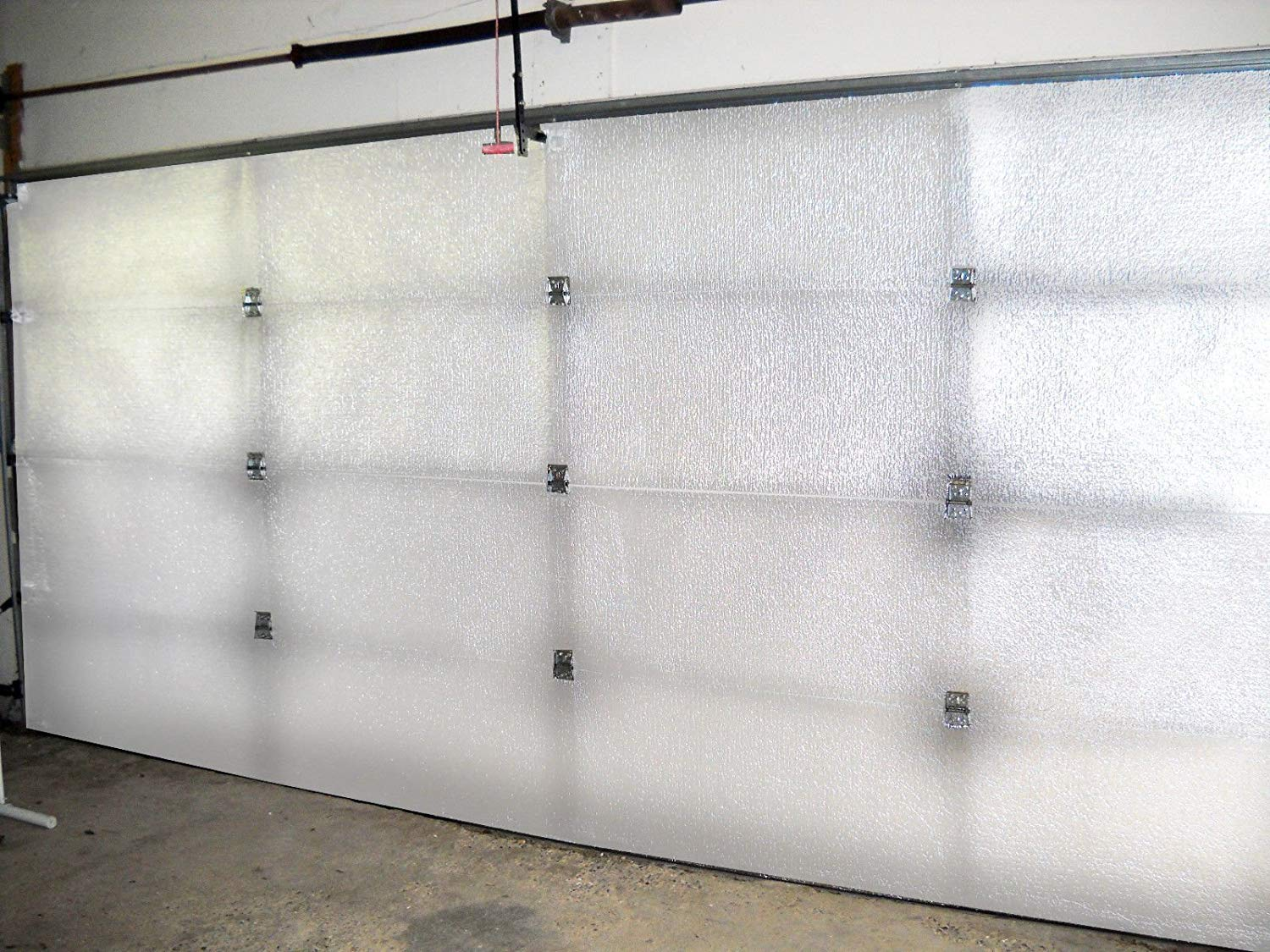 NASA TECH White Reflective Foam Core 2 Car Garage Door Insulation Kit 18FT (WIDE) x 8FT (HIGH) R Value 8.0 Made in USA New and Improved Heavy Duty Double Sided Tape (ALSO FITS 18X7) by US Energy Products