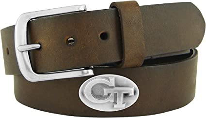 NCAA Georgia Bulldogs Light Crazy Horse Leather Concho Belt Renewed