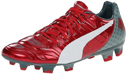 PUMA Men's Evopower 2.2 Graphic FG Soccer Shoe, High Risk Red/White/Sea