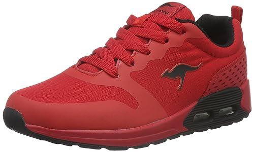KangaROOS 12011 - Zapatillas de Sintético Unisex Infantil, Color Rojo, Talla 31 EU: Amazon.es: Zapatos y complementos