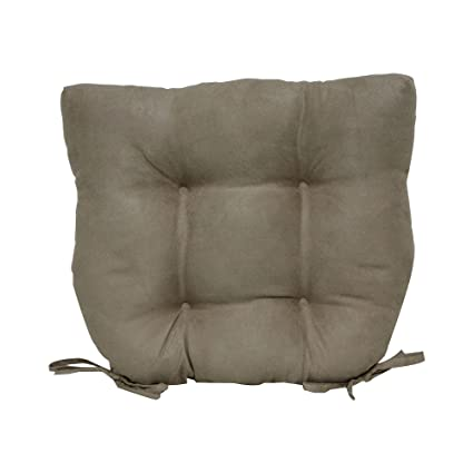 Amazon Brentwood Originals Faux Suede Chair Pad Khaki Home Delectable Brentwood Originals Decorative Pillows And Chair Pads