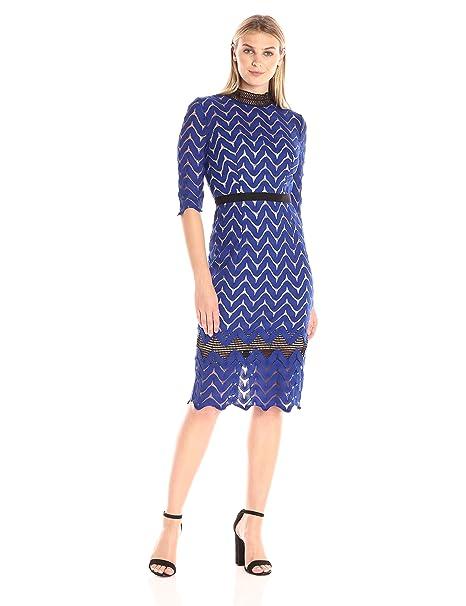 3bbc4b8e1 Jax - Vestido de Punto con Cuello y cordón para Mujer  Amazon.com.mx ...