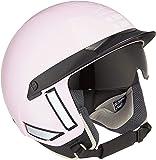Steelbird Kukka K-1 Half Helmet with Smoke Visor (Glossy Pastel Pink and White, 580 mm)