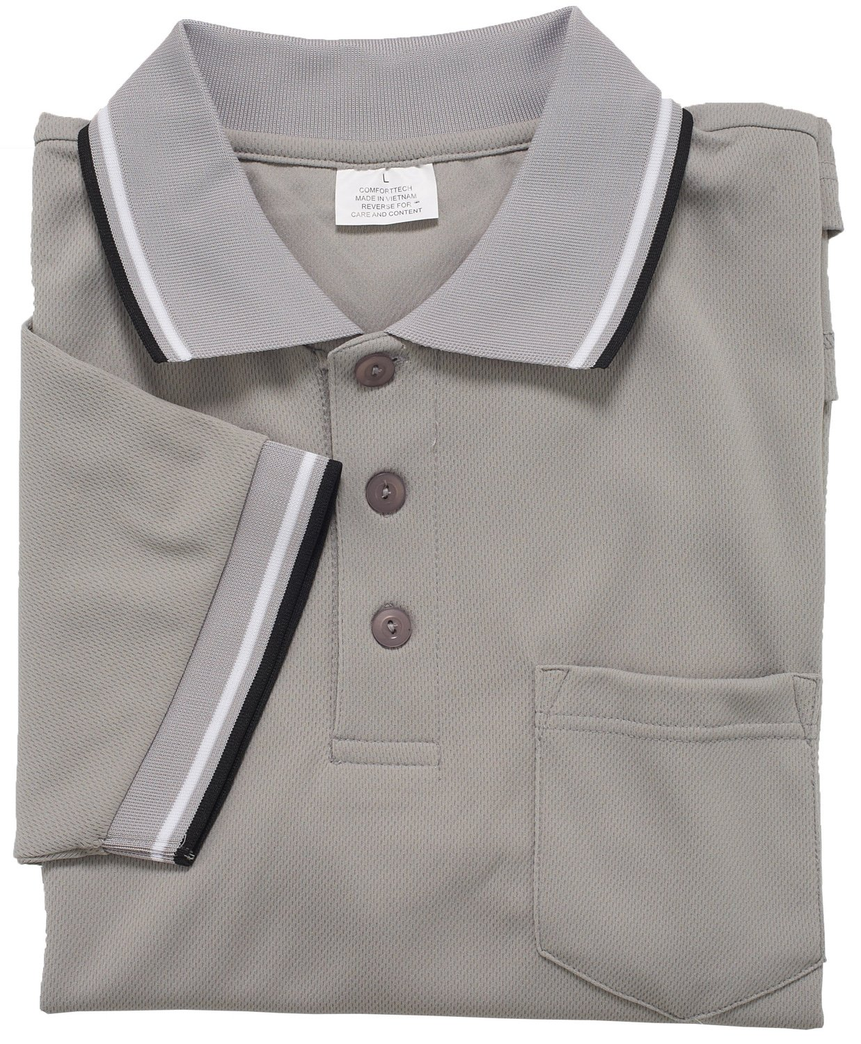 Adams USA Smitty Major League Style Short Sleeve Umpire Shirt with Front Chest Pocket (Gray, 4X-Large)
