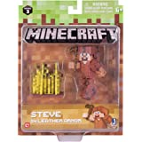 Minecraft 16484 3-Inch Action Figure - Steve in Leather Armour Pack