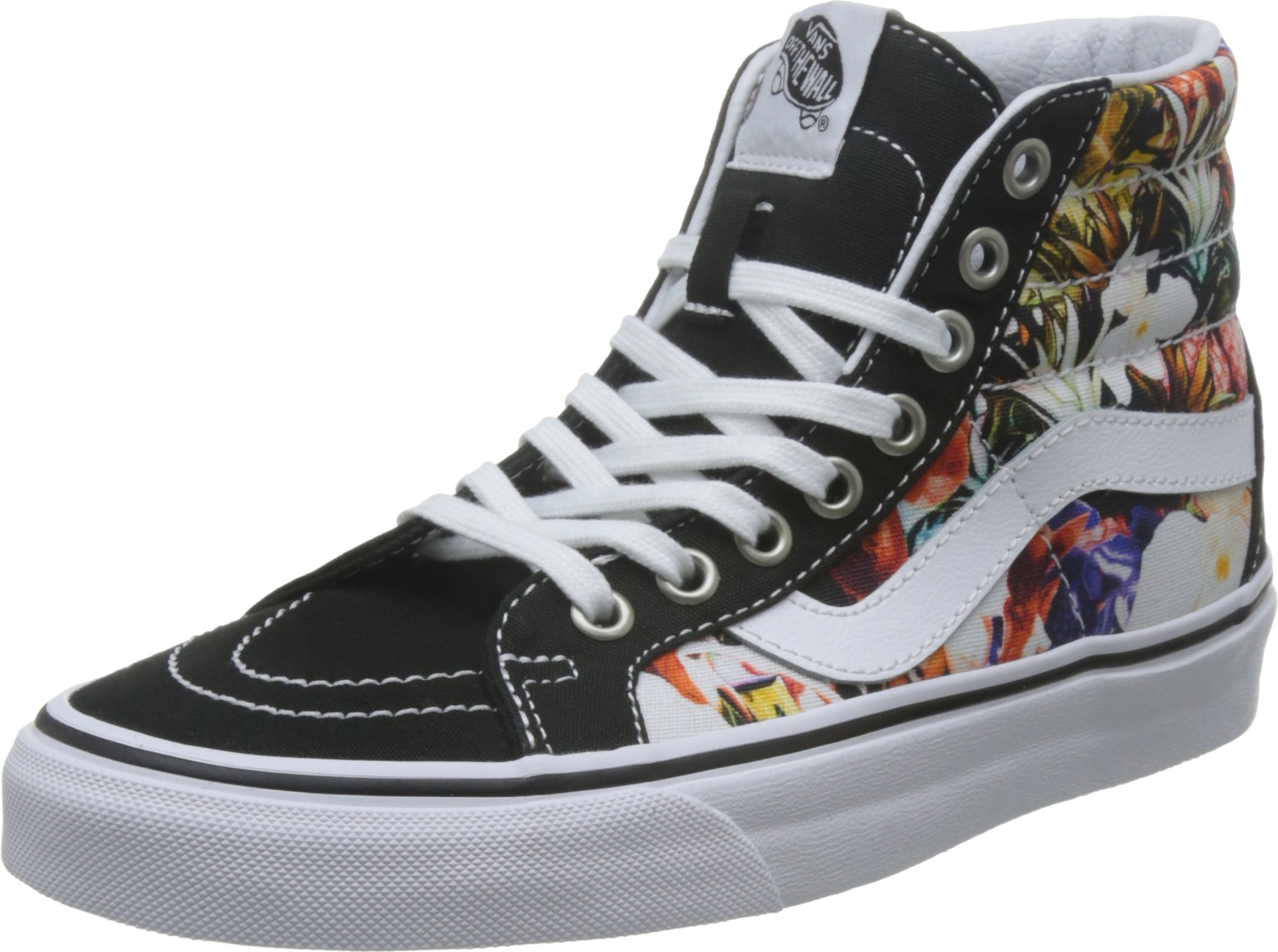 3c3baa96293 Galleon - Vans Mens SK8 HI Reissue Shoes Cuban Floral Black True White Size  5.5