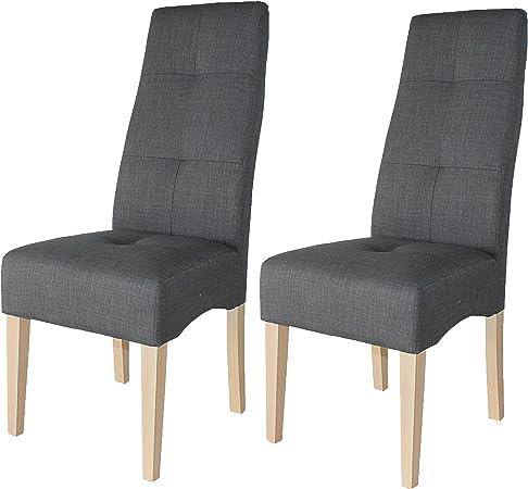 Miroytengo Pack 2 sillas salón Comedor Color Gris Estructura y ...