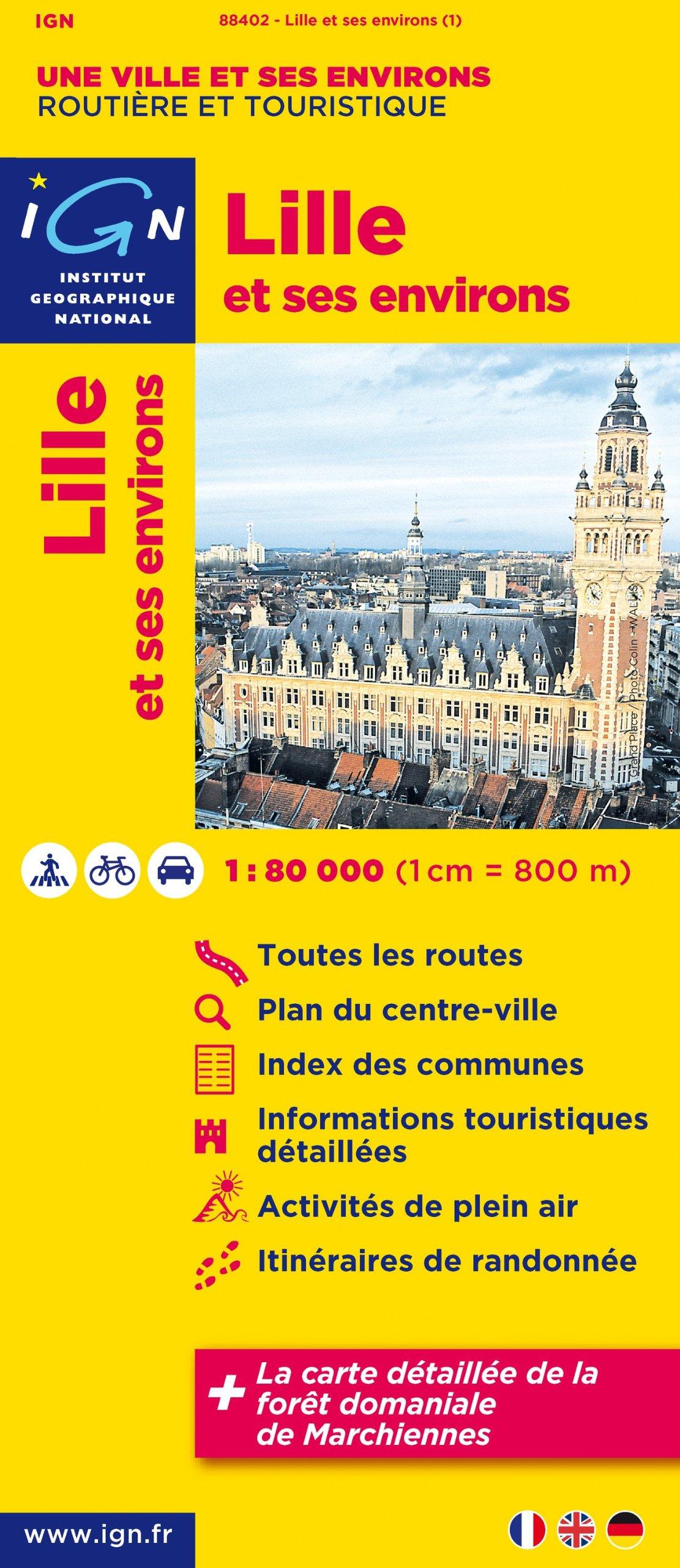 88402 Lille et Ses Environs 1/80.000 Carte – Carte pliée, 15 avril 2011 Ign 2758523949 TL2758523949 Gazetteers & Maps)