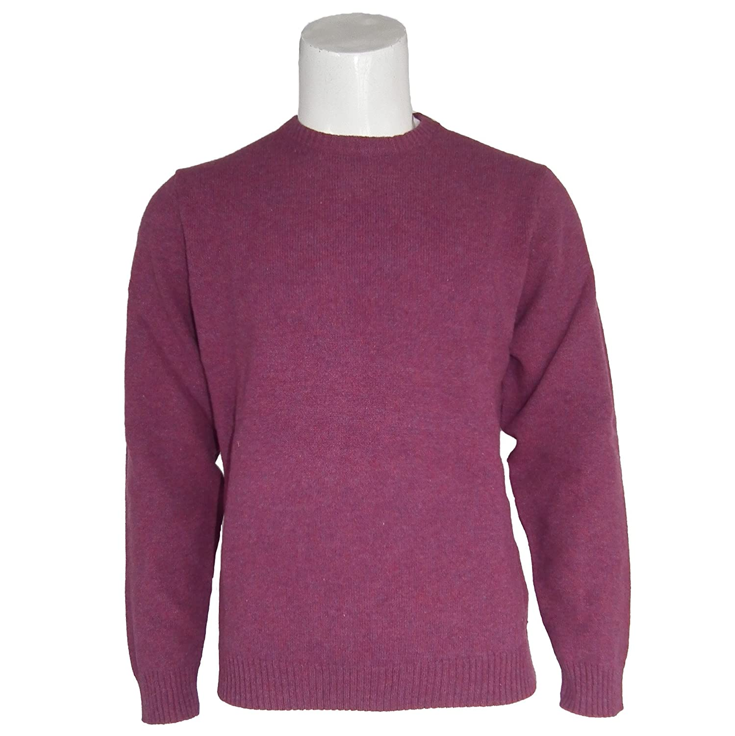 Peter Gribby Autumn Lambswool Crew Neck Jumper in Raspberry