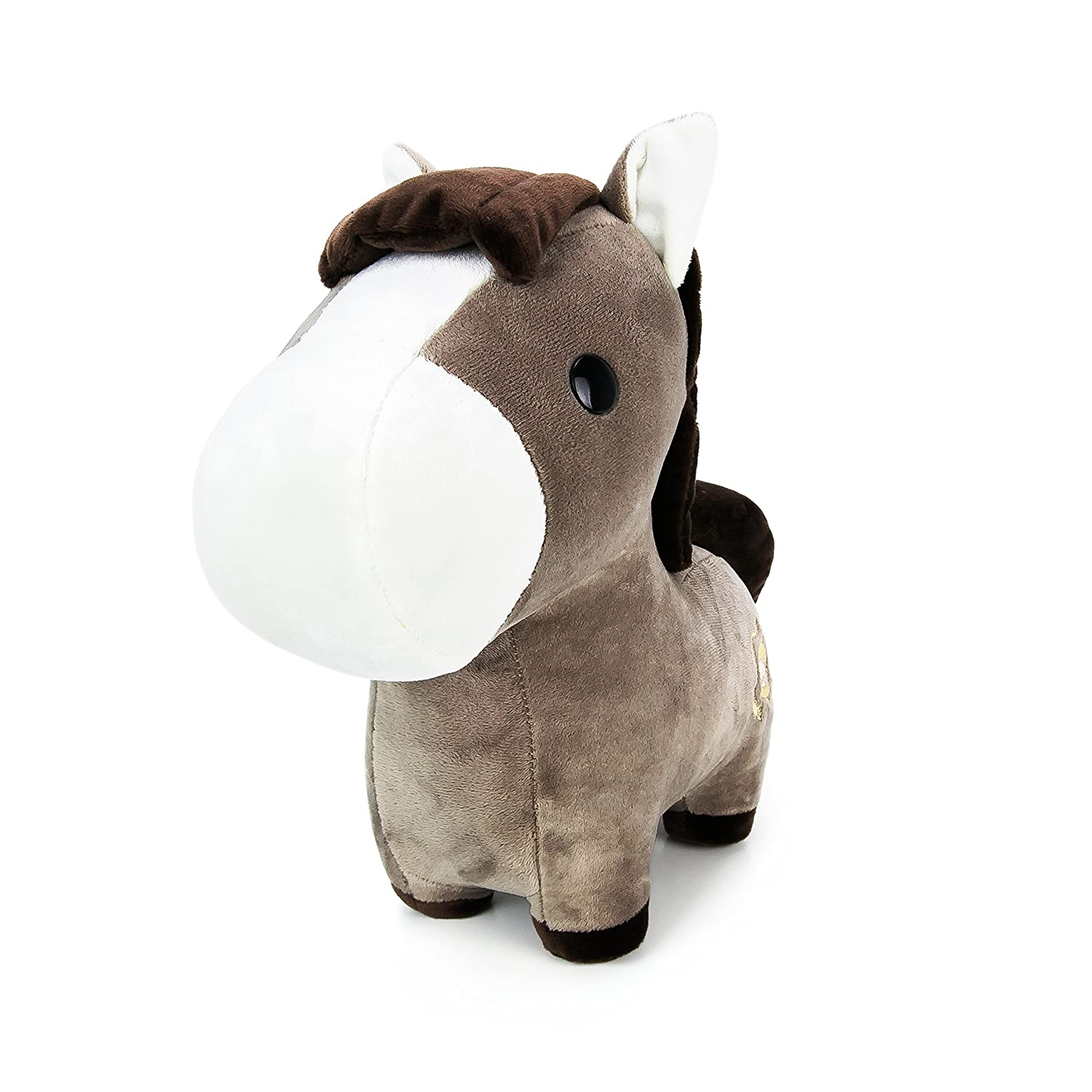 4a768fca551 Amazon.com  Bellzi Brown Pony Stuffed Animal Plush Toy - Adorable Plushie  Toys and Gifts! - Ponni  Toys   Games