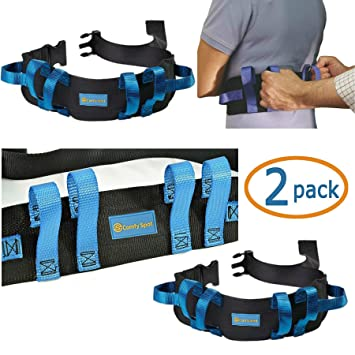 Amazon.com: Gait Belt Transfer Belt 2 Pack with Quick Release Lifts