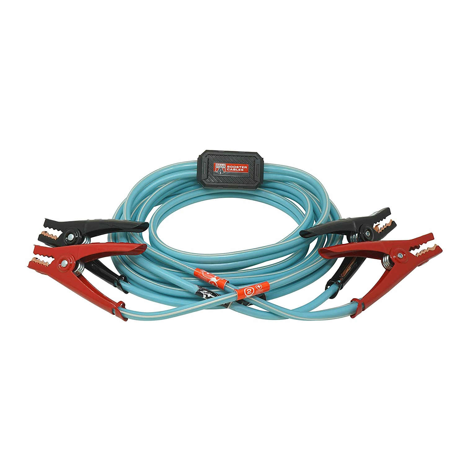 Road Power 84696616 6 Gauge 16 Blue Booster Cables with Exclusive Road Glow Technology
