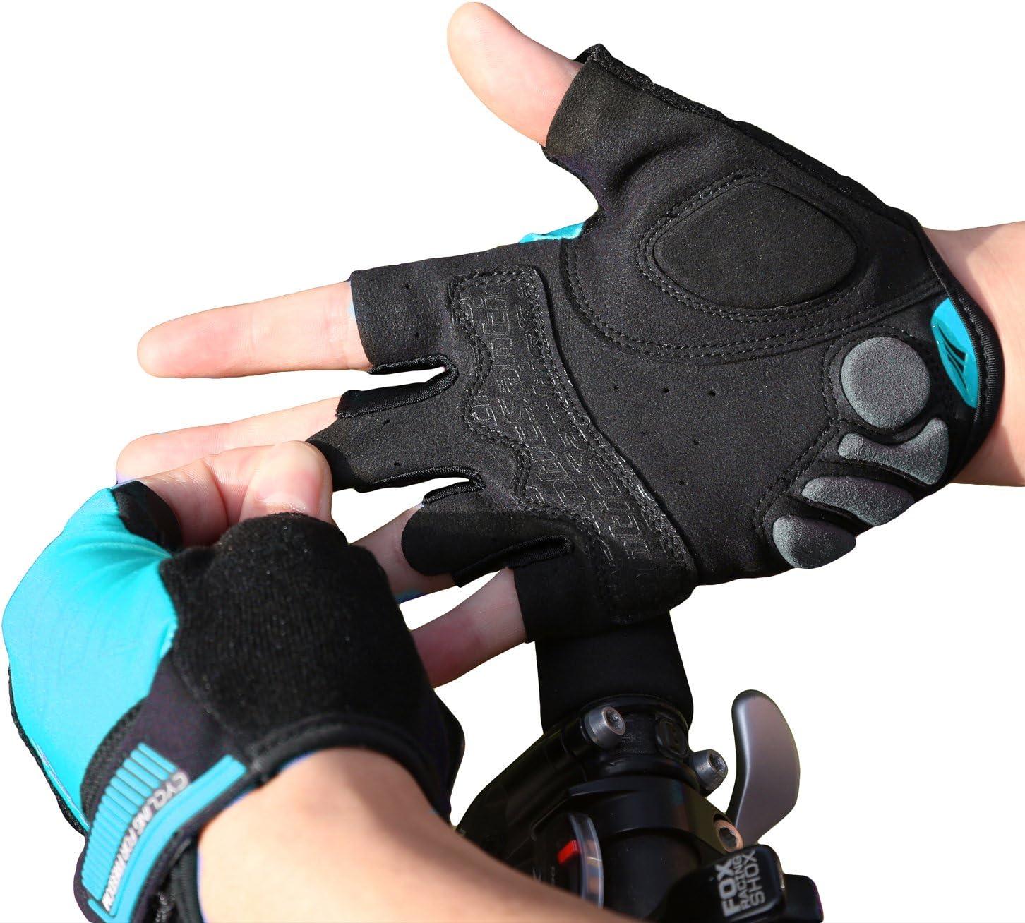 Santic Fahrradhandschuhe M/änner Sommer Halbfinger Handschuhe Damen Radsport Radhandschuhe Handschuhe Fahrrad Gepolstert