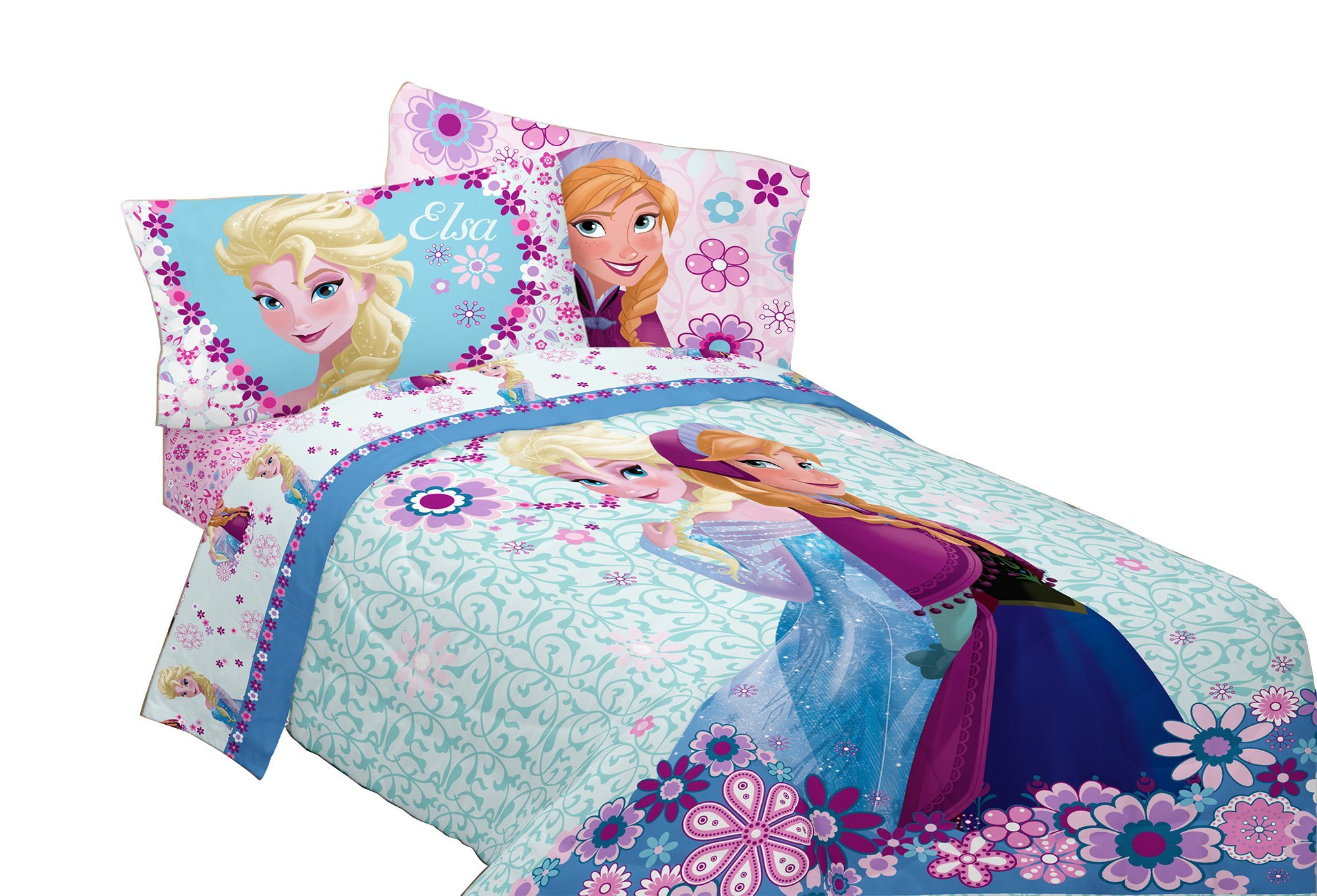 Disney Frozen Warm Heart Microfiber Comforter, 72'' x 86''/Twin/Full