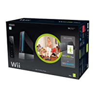 Nintendo Wii Console (Black) with Wii Fit Plus and Balance Board + Motion Plus Controller (Wii)