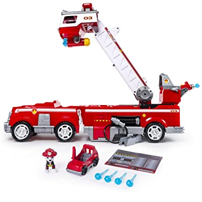 Paw Patrol Ultimate Rescue Fire Truck with Extendable 2 ft. Tall Ladder, for Ages 3 and Up: Toys & Games
