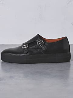 Double Monk Strap Sneakers 1331-343-7975: Black