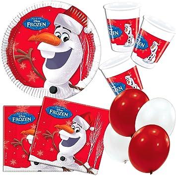 44 Juego De Frozen Olaf Christmas Navidad Fiesta De Cumpleanos