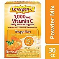 Emergen-C Vitamin C 1000mg Powder (30 Count, Tangerine Flavor, 1 Month Supply),...