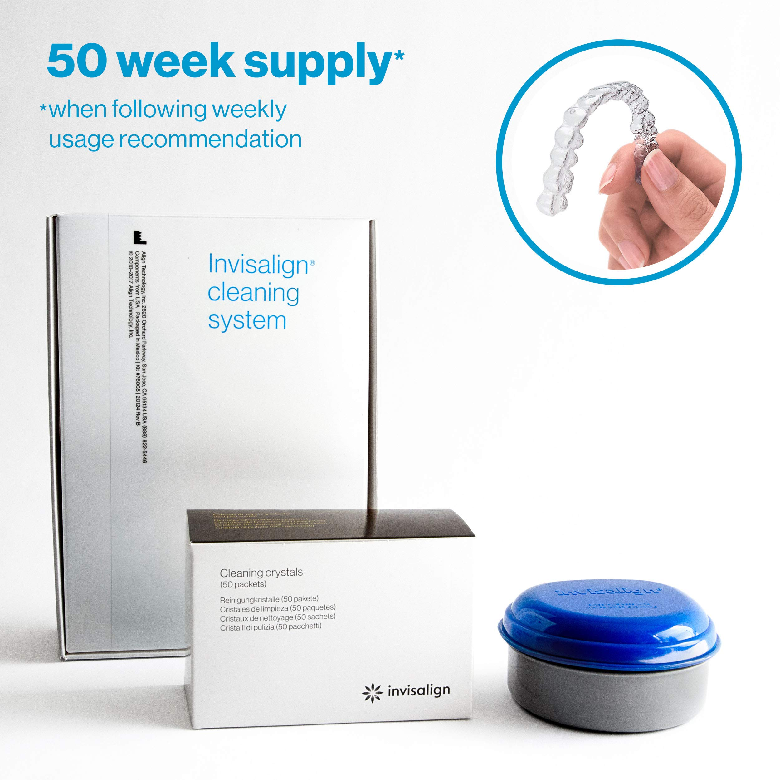 Invisalign Cleaning System for Aligners and Retainers (with Tub) - 50 week supply by INVISALIGN
