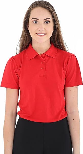 GW CLASSYOUTFIT® - Polo - para niña Rojo 2X Red 40: Amazon ...