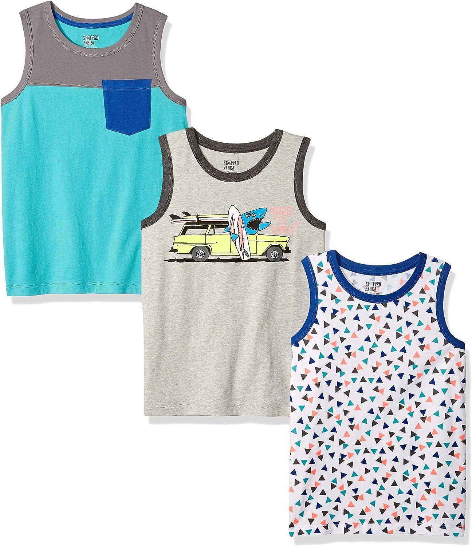 Brand Spotted Zebra Boys Sleeveless Tank Tops