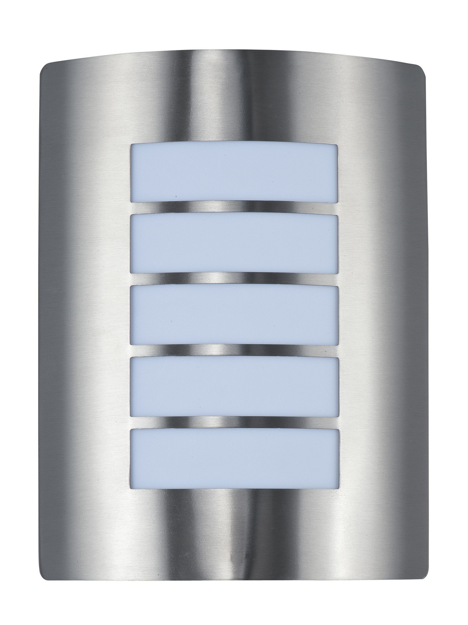 Maxim 54321WTSST View EE 1-Light Wall Sconce, Stainless Steel Finish, White Glass, GU24 Fluorescent Fluorescent Bulb , 40W Max., Damp Safety Rating, 2900K Color Temp, Standard Dimmable, Glass Shade Material, 1500 Rated Lumens