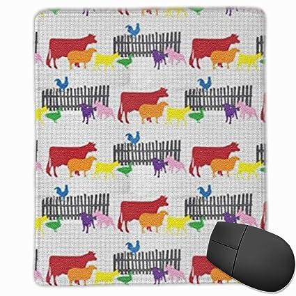 ea606433e465b Amazon.com : Rainbow Farm Cow Chicken Animals Mouse Pad Computer ...