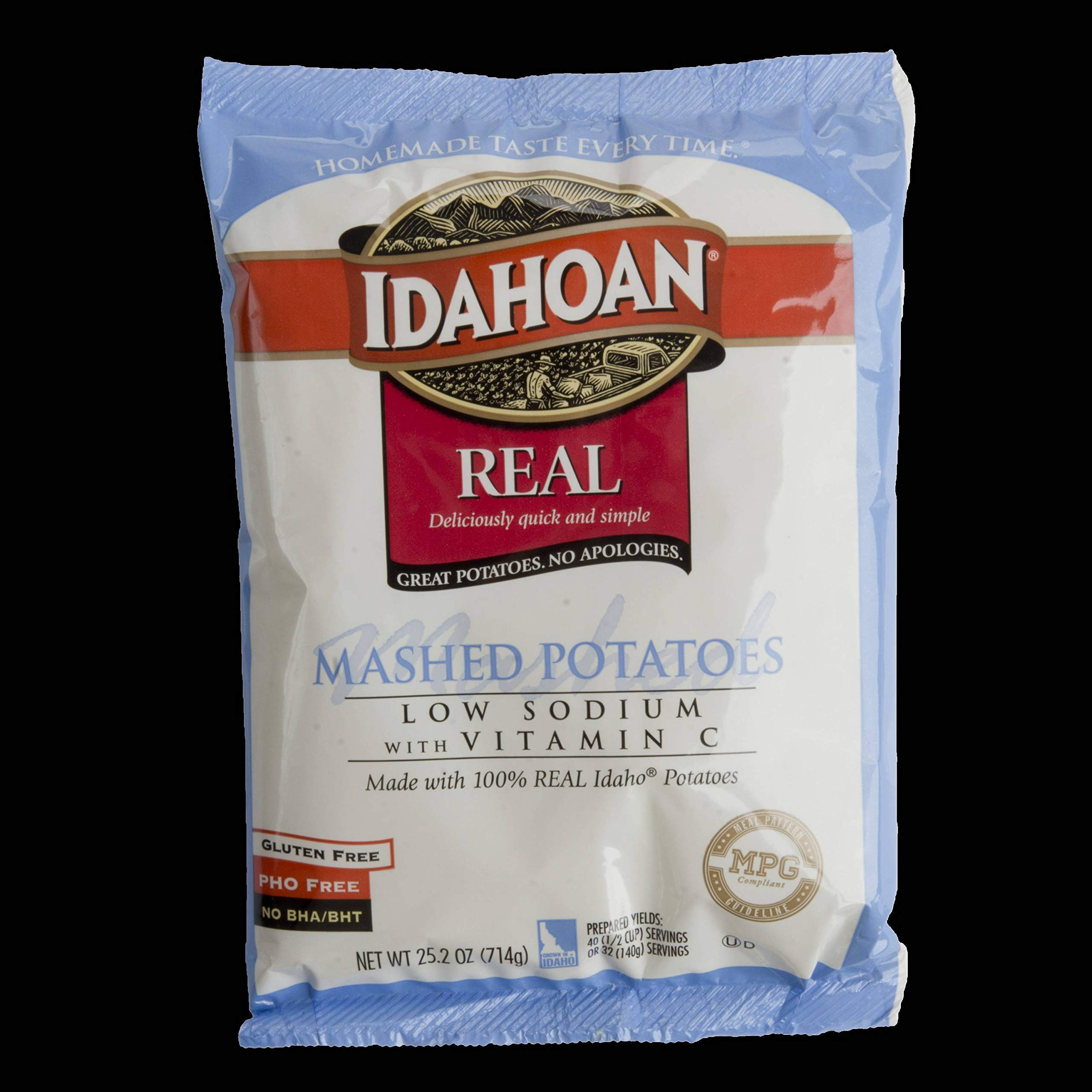 Idahoan Low Sodium with Vitamin C Real Mashed Potato, 25.2 Ounce -- 12 per case. by Idahoan