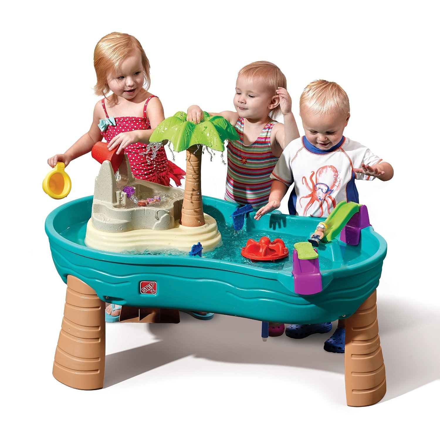 Step2 Splish Splash Seas Water Table (Deluxe Pack - Includes Palm Tree & Accessories)