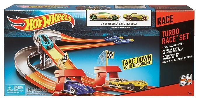 Mattel Hot Wheels BMK60 Turbo Race Set inkl. 2 Cars: Amazon.es: Juguetes y juegos