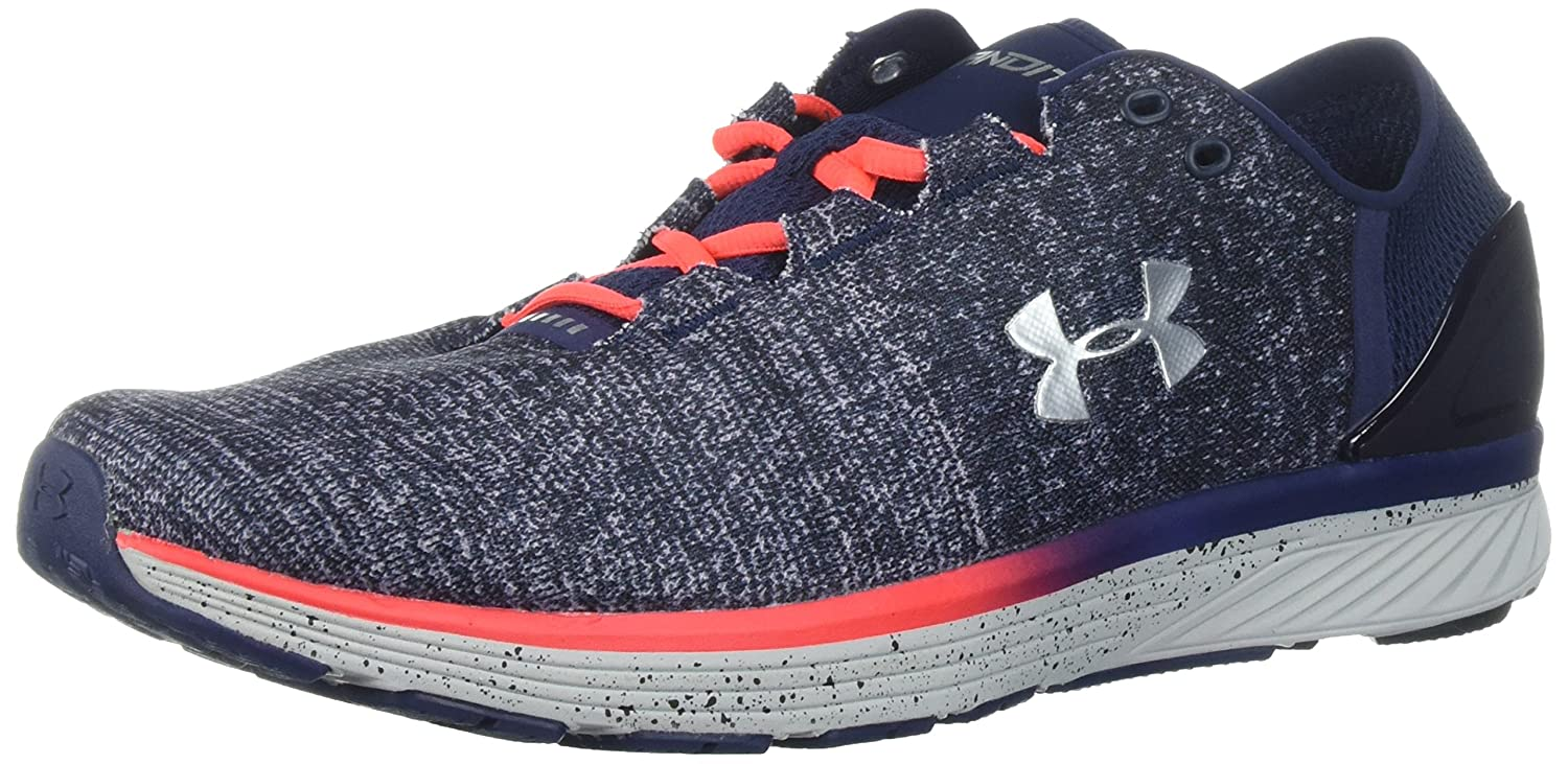 Under Armour Women's Charged Bandit 3 Running Shoe B01NAUA6KU 8 M US|Glacier Gray (003)/Midnight Navy