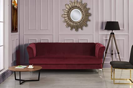 Incredible Divano Roma Furniture Elegant Classic Living Room Velvet Sofa Colors Blue Green Grey Red Red Home Interior And Landscaping Ologienasavecom