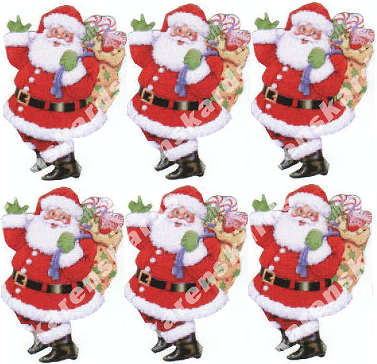 Christmas Santa Card Making Toppers Craft Toppers Crafting x 6